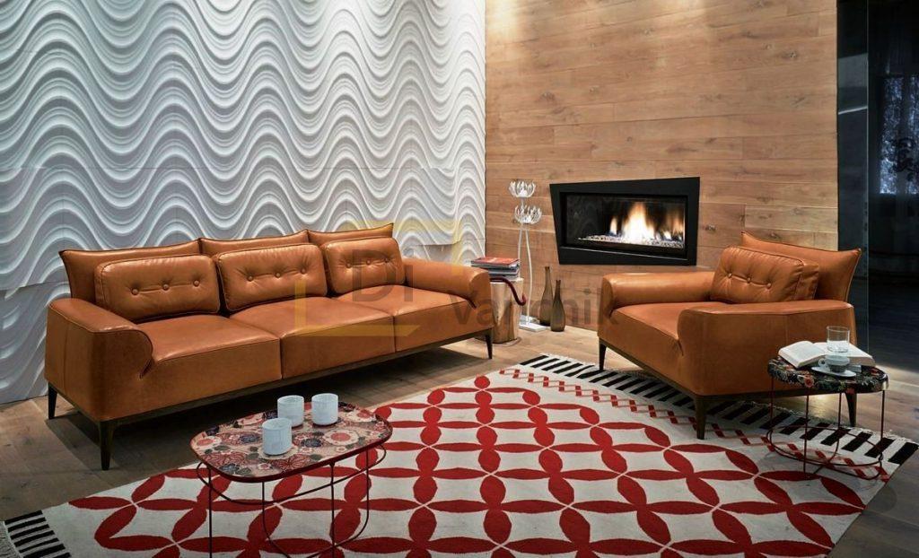комплект диван и кресло из кожи заказать