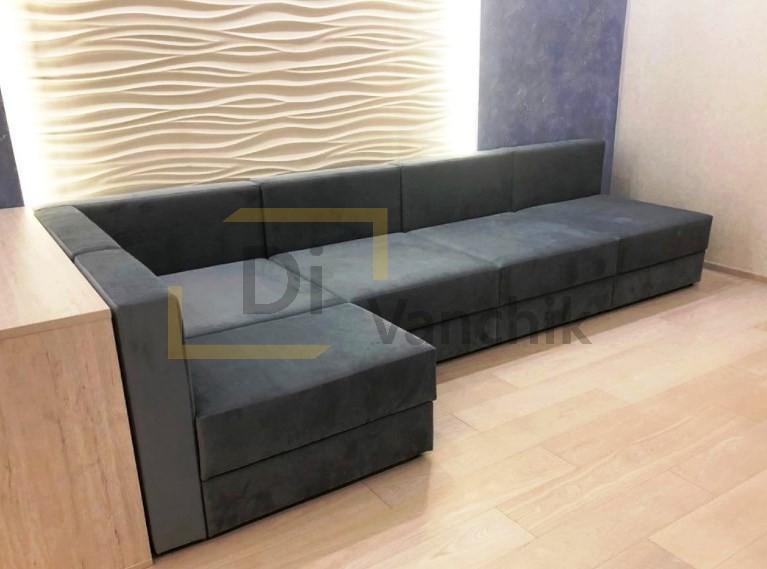 угловой диван в нишу для нашего клиента251